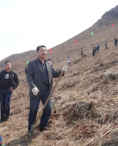 Mr Li from the Liaoning Forestry Department is responsible for the local side of the project.