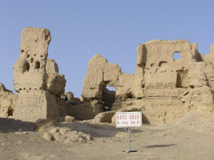 Many of the cities of the old days Empires are covered in sand. Here Jiaohe - from ibiblio.org.