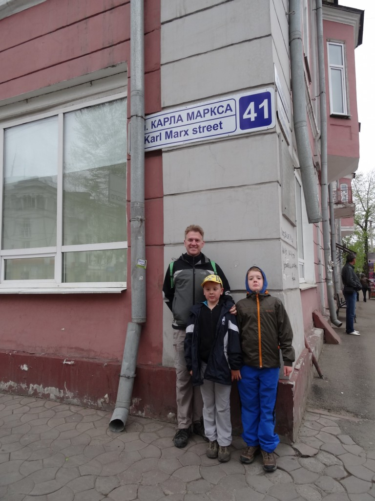 """Main road of Irkutsk is Karl Marx road. Number two is Lenin road and unexpectedly number three is Stepan Razin. (The volga pirate of the song """"Volga, volga"""" - sometimes in Sweden known as """"vodka, vodka"""")."""