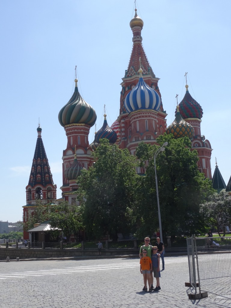 Moscow famous Cathedrals - in Kreml and on the Red square (St. Basil - also known from kefir packages).