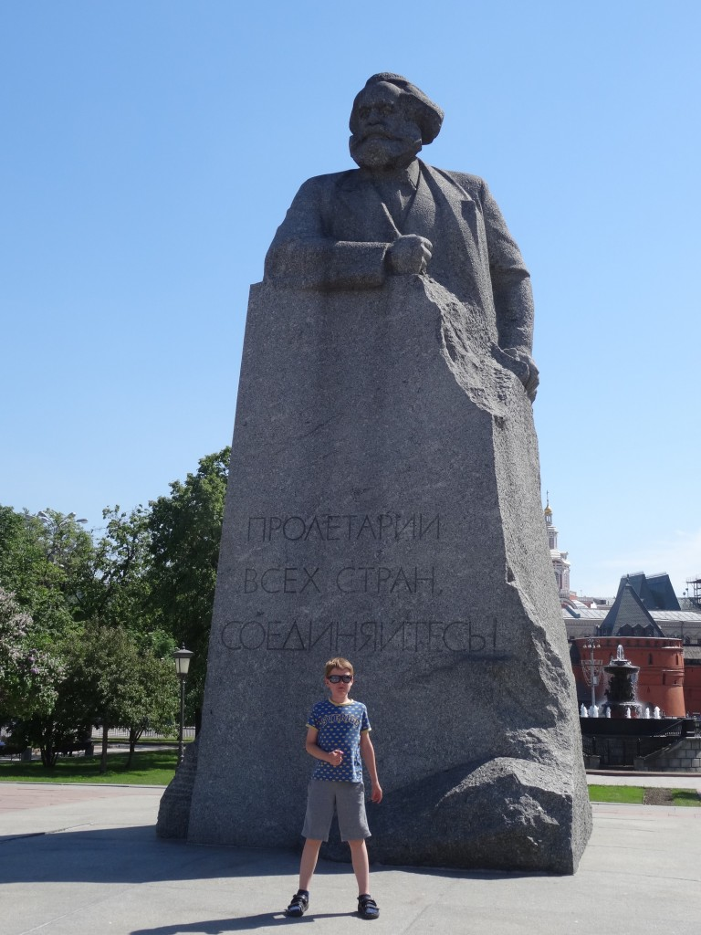 Karl Marx in Moscow.