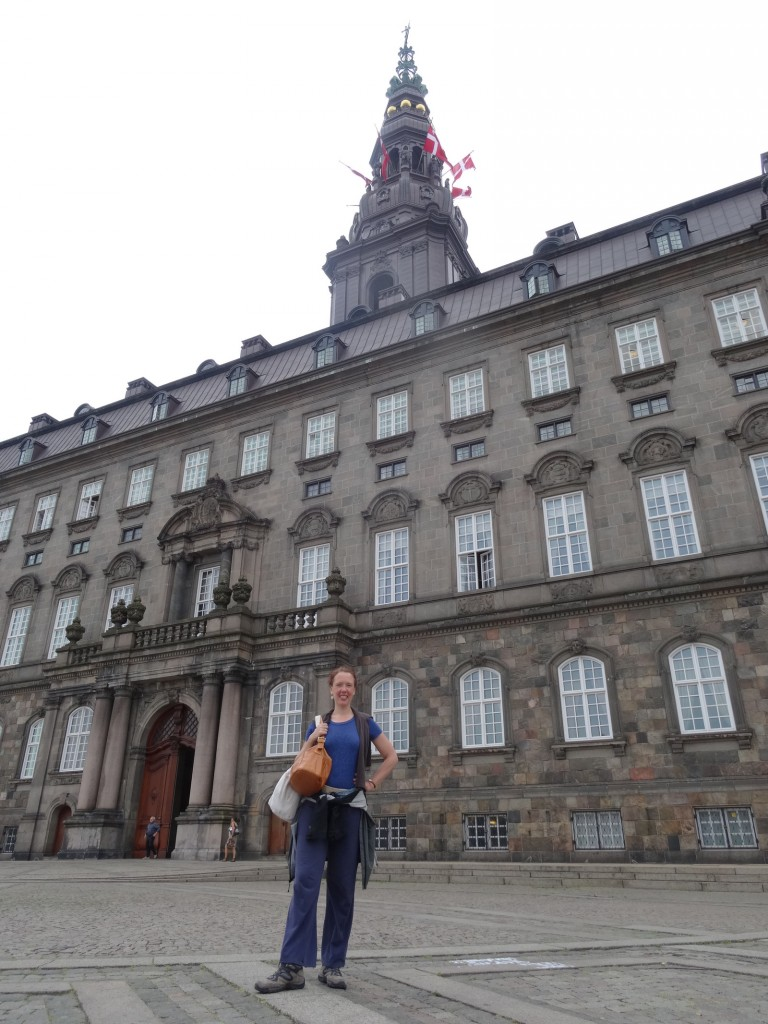 "Marijke outside Borgen. Preparing mentally for the role as ""Stadsminister""."