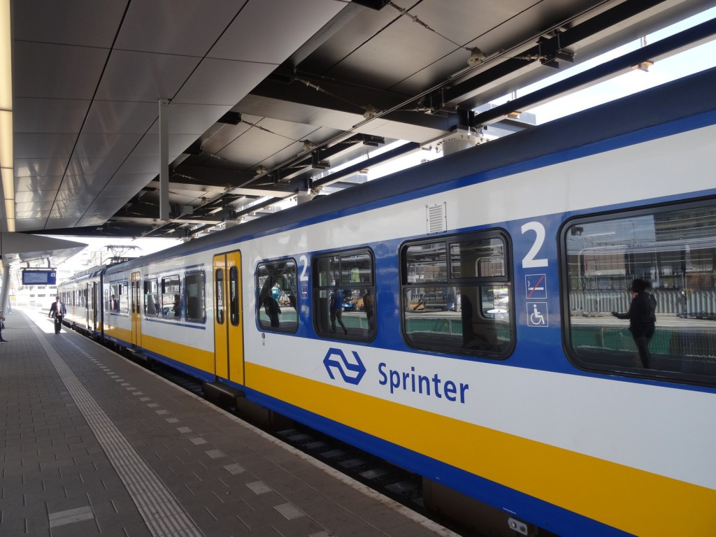 NS Sprinter to Soest Zuid. Last leg of the train journey.