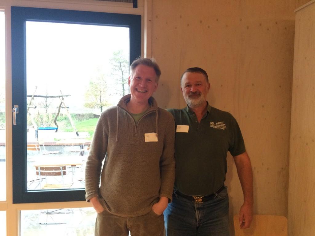 Goran en Mark tussen de workshops door.