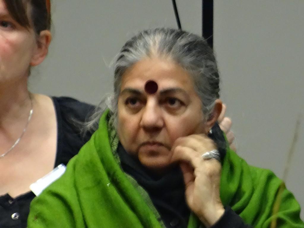 """Vandana Shiva kwam vertellen over de """"Monsanto-Tribunal""""."""